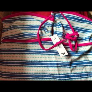 NWT George Tank Top pink blue white